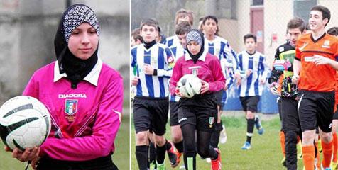 Wow, Chahida Chekkafi, Wasit Wanita Berhijab Pertama di Dunia
