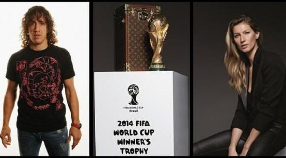 Puyol Bersama Model Brasil akan Membawa Trofi Piala Dunia